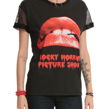 The Rocky Horror Picture Show Lips Mesh Top