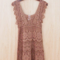 Free and Breezy Summer Crochet Mini Dress/Tunic