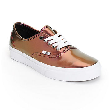 Vans Authentic Pink Patent Leather Shoes