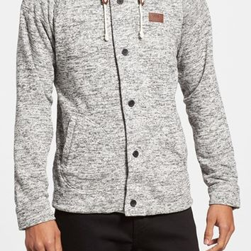 Men's Vans 'Fleet' Trim Fit Marled Sweater Fleece Zip
