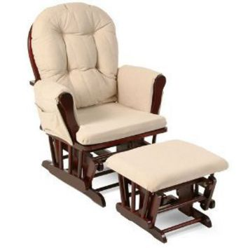 Amazon.com: Stork Craft Hoop Glider and Ottoman Set, Espresso/Beige: Baby