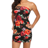 Floral Wavy Bodycon Dress | Shop Dresses at Wet Seal