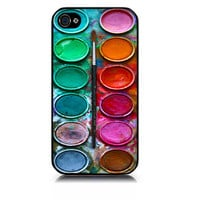 iPhone case includes screen protector and cleaning cloth.Watercolor set paintbox. Available in black or white