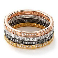 Crislu Micro Pave Octagon Stack Ring | Bloomingdale's