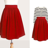 Custom full skirt with side pockets in red and many colors