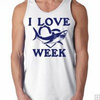 I love SHARK week TANK TOP mens
