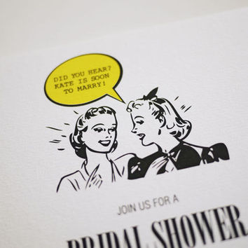 1950's Retro - Bridal Shower Invita.. on Luulla