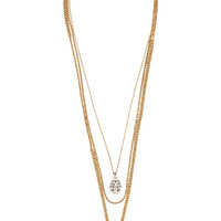 Lulu Frost - Showcase oxidized silver-tone, gold-plated and crystal necklace