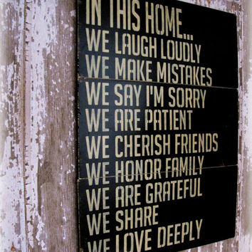 In This HomeHouse RulesAntiqued Plank Typography by cellardesigns
