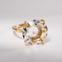 Clear Crystal Quartz Round Ring | Jessica Ricci Jewelry