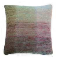 Heal's Purple And Green Multi Mohair Cushion