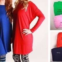 Perfect Fall Tunic-NEW Colors