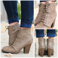 She's Got It Bootie - Taupe - TAUPE /