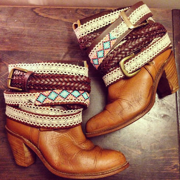 Custom Upcycled Leather Cowboy Boots