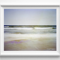 Ocean Waves, Photography, Beach, Photo, Print, Sand, Fine Art, Horizontal, View, Wall Decor, Home, Poster, Room, photograph, Bedroom