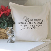 You cannot control the wind pillow cover