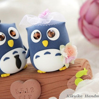 LOVE ANGELS Wedding Cake Topper-love Owls with branch