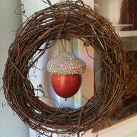 Grape Vine Fall Acorn Wreath