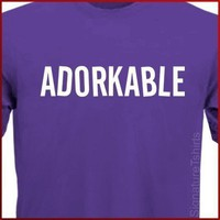 ADORKABLE - Funny Geek DORK T-Shirt S, M, L, XL
