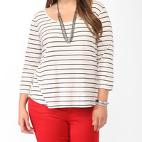 Striped Twisted Back Top
