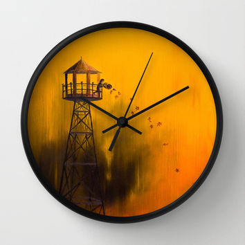 Autumn Tower Wall Clock by Timone