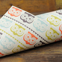 Retro Owl Gift Wrap