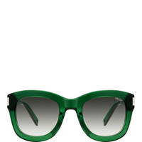 Green Acetate Sunglasses by Bally - Moda Operandi