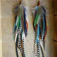 Alice In Wonderland Extra Long Feather Earrings