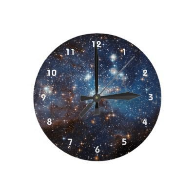 Starry Sky Wall Clocks from Zazzle.com