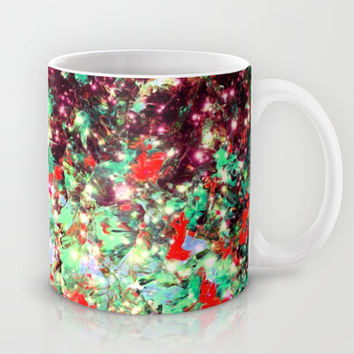 MISTLETOE NEBULA Colorful Festive Christmas Red Green Sparkle Galaxy Ombre Xmas Holidaze Abstract  Mug by EbiEmporium