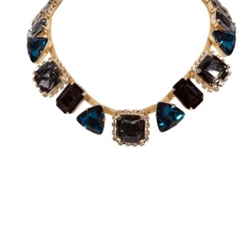 Cara Multi Shape Faceted Crystal Necklace at Von Maur