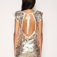 TFNC | TFNC Dress All Over Sequin With Keyhole Back at ASOS