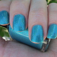 Twist of Teal- Custom Blended Glitter Nail Polish