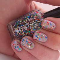 "Nail polish - ""Remnants""  multi glitter nail polish - limited edition colour"