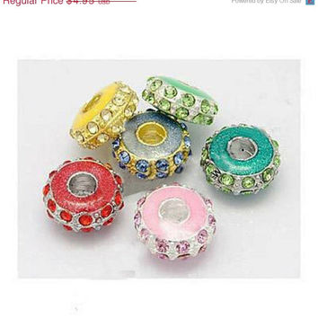On Sale Rhinestone 12mm rondelles   Bead - Many colors