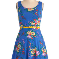 Friendly Floral Arrangements Dress | Mod Retro Vintage Dresses | ModCloth.com