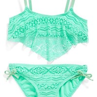 Girl's Gossip Girl 'Little Wild One' Two-Piece Swimsuit