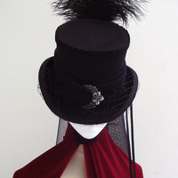 Steampunk Bella Neo Victorian Rigid Riding Top Hat