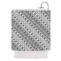 Kess InHouse Miranda Mol 'Silver Lace' Shower Curtain, 69 by 70-Inch