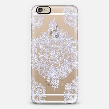 Pretty Pale Lavender Floral on Crystal Transparent iPhone 6 case by Micklyn Le Feuvre | Casetify