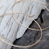 Thin, Gold Hoop Earrings, Simple, Endless Hoops, Medium