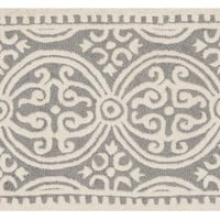 2'x3' Jay Rug, Silver/Ivory, Area Rugs