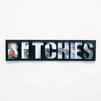 B*tches Photo Frame in Black - Urban Outfitters