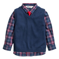 H&M - Shirt and Sweater Vest