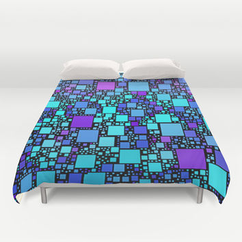 Post It Blue Duvet Cover by Alice Gosling