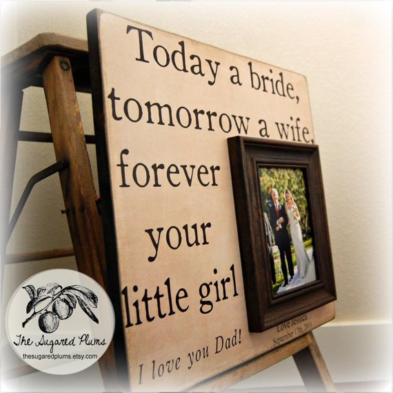 Wedding Day Gift For Father Of The Bride : Father of the Bride Custom Wedding Gift from thesugaredplums on