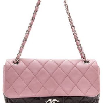 What Goes Around Comes Around Chanel Two Tone Half Flap Bag