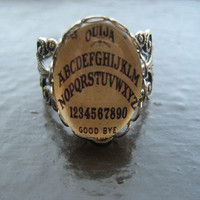 Antique Ouija Board Ring - Silver | BellaMortaJewelry