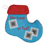 Lumps of Coal Christmas Blue Stocking by Janz