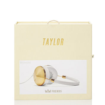 FOREVER 21 Frends Taylor Headphones Gold/White One